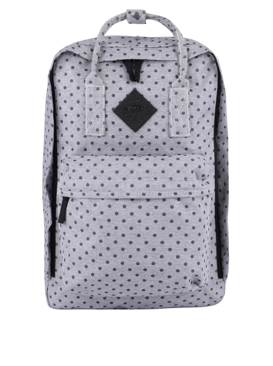 23f89eb410 Puntíkovaný šedý batoh Vans